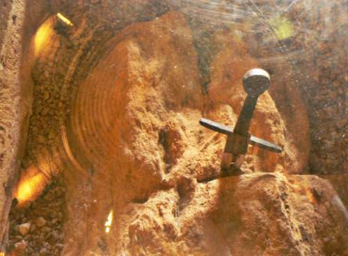 La spada nella roccia si trova nell'Abbazia di San Galgano.
