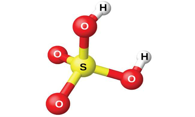 Come viene chiamata la molecola H2S04?