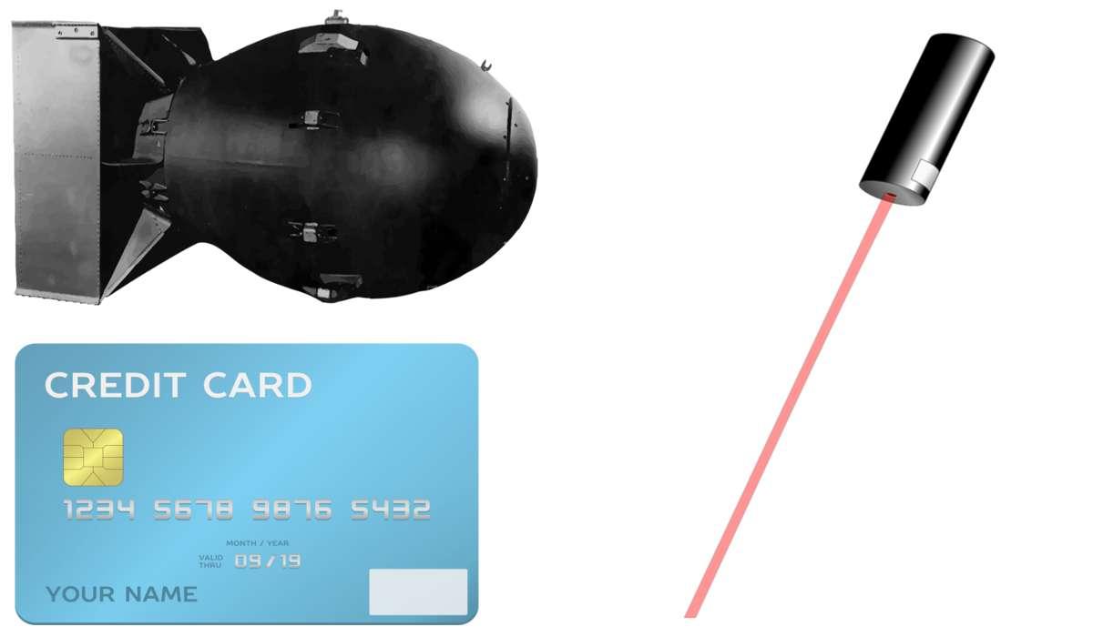 Laser, bomba atomica, carta di credito