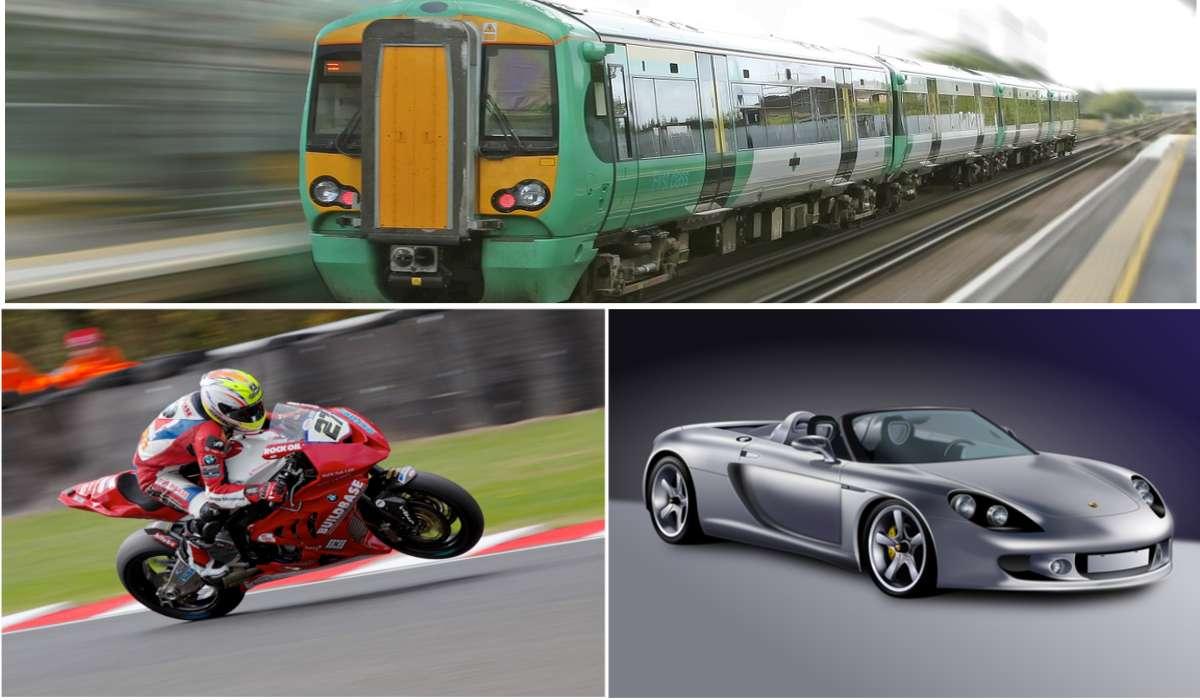 Automobile, treno, motocicletta