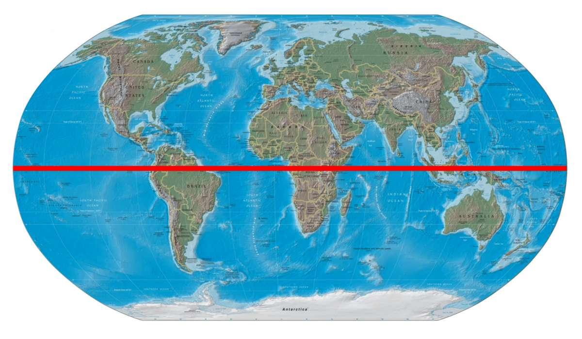 Quanti metri al secondo percorre la Terra, girando su se stessa, all'equatore: