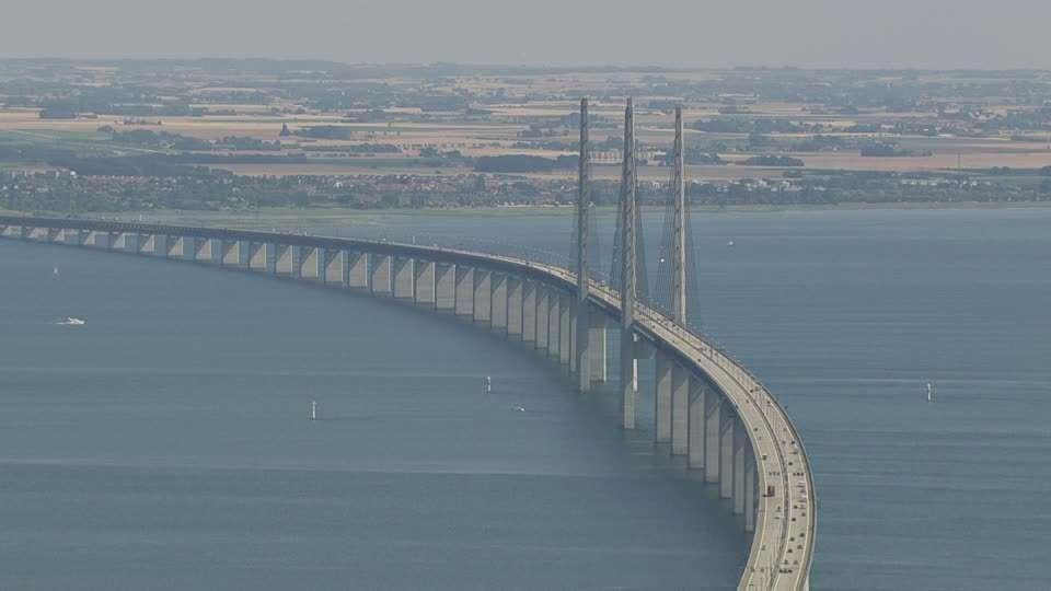 Il ponte di Øresund risulta essere molto importante per il collegamento di Svezia e Danimarca.