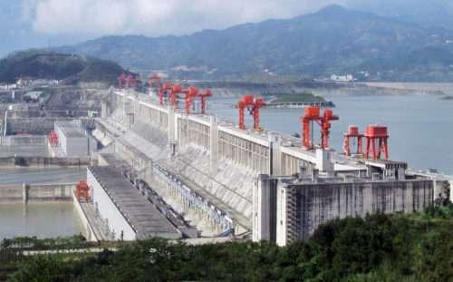 Ecco come si presenta una parte della diga