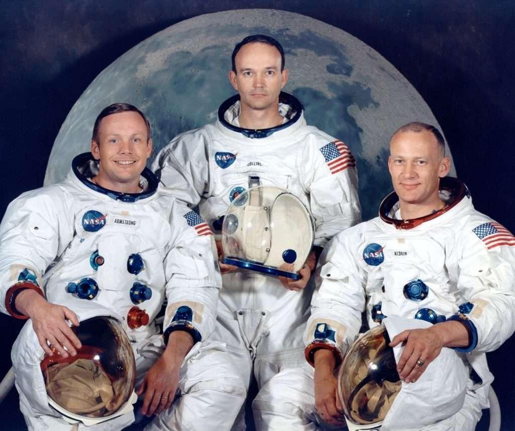 L'equipaggio dell'Apollo 11: Armstrong, Collins e Aldrin