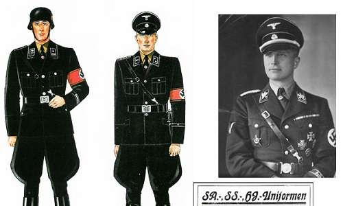 Le divise degli ufficiali SS di Hugo Boss casa di moda, la preferita di Hitler.