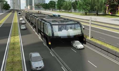L'autobus sopraelevato viaggerà su rotaie appositamente realizzate
