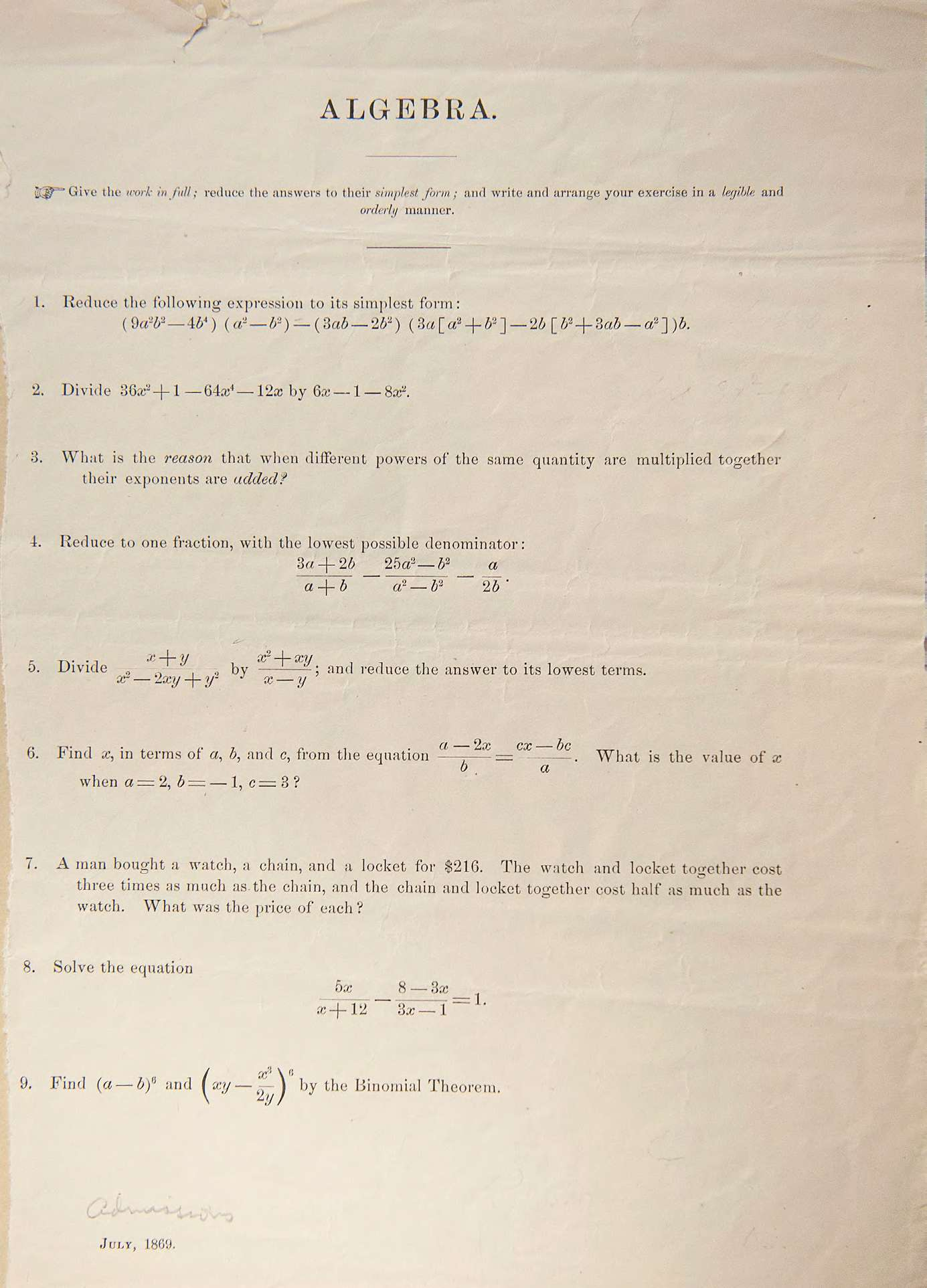 test-di-harvard-ottocento-7