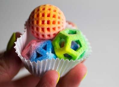 Cibo creato con una stampante 3D