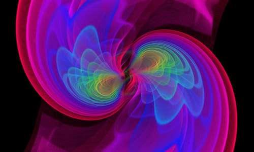 buchi neri in rivoluzione nell'universo, nella fase antecedente l'emissione delle onde gravitazionali