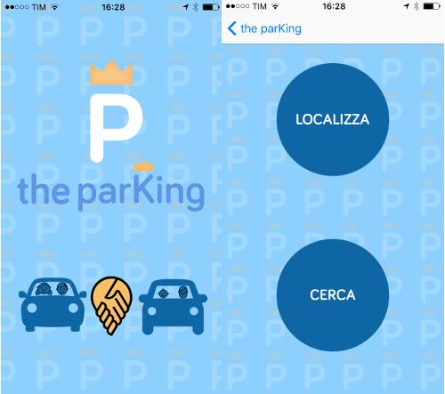 the parking mostra in questa interfacca come trovare parcheggio