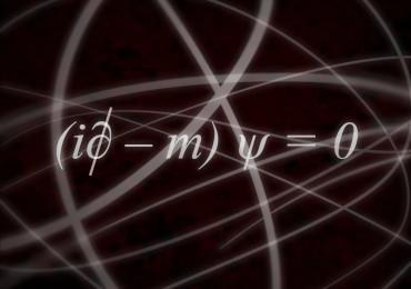 L'equazione di Dirac, spesso usata come formula dell'amore.