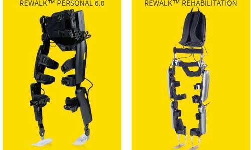Quelle riportate in immagine sono due tipologie di rewalk utilizzate per la riabilitazione di persone con lesioni del midollo spinale