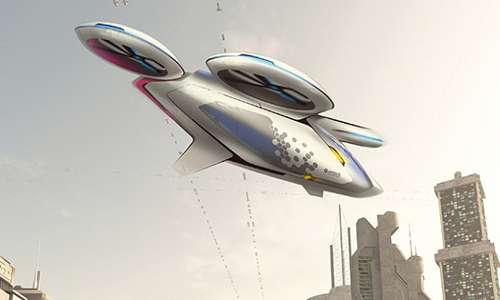 CityAirbus, auto volante per più passeggeri, l'autobus del futuro di Airbus.