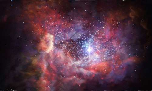 Immagine artistica rappresentativa della galassia A2744_YD4