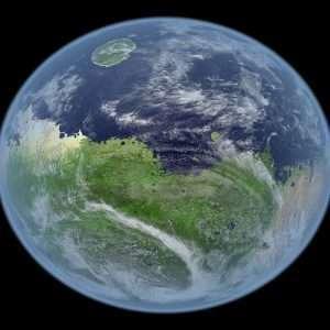 Marte grazie allo scudo magnetico e il campo magnetico artificiale.