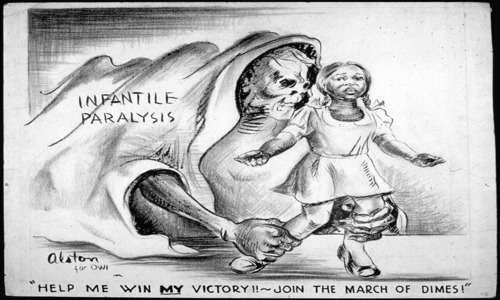 Le campagne antipolio divennero molto diffuse negli anni in cui la poliomielite colpì il presidente americano Roosevelt.