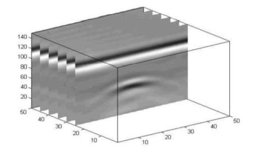 Georadar 3D ottenuto affiancando B-scan e ricavando C-scan.