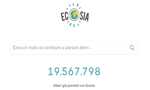 Ecosia il motore di ricerca internet verde