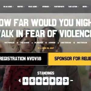 Le marce organizzate dall'associazione olandese Vluchtelingenwerk per i diritti dei rifugiati rientrano in un piano di donation-based crowdfunding.