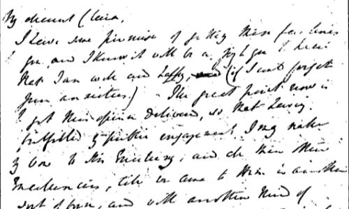 La grafologia morettiana dà grande importanza a segni come inclinazione, rispetto del rigo e margini. Questa lettera di Charles Elliot è un valido esempio.