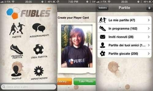 Fubles è anche versione app.