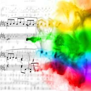 La sinestesia colora le note musicali.