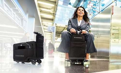 Modobag è una valigia rivoluzionaria che per mette al suo proprietario di muoversi più velocemente.