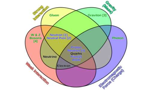 Le quattro interazioni fondamentali sono caratterizzate da diverse particelle legate da una ipotetica spiegazione fisica comune. Questa spiegazione è uno dei motivi della nascita e dello sviluppo della teoria delle stringhe, candidata per unificare le leggi della fisica.