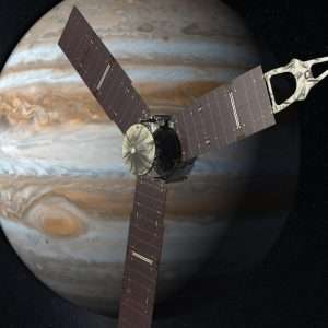 La sonda spaziale Juno orbita attorno a Giove