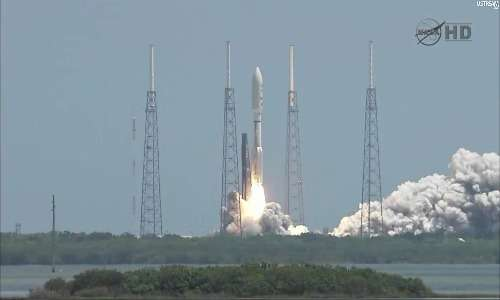 La sonda spaziale Juno fu lanciata su un razzo Atlas V 551 da Cape Canaveral, Florida