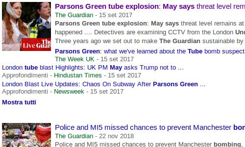 Ricerca su Google della fonte Cercare le notizie per scoprire sono delle bufale