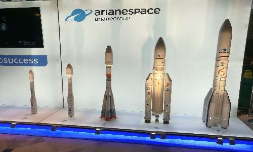 4 razzi in uso dell'ESA tra cui un Ariane 5. L'ultimo è un Ariane 6, operativo dal 2020