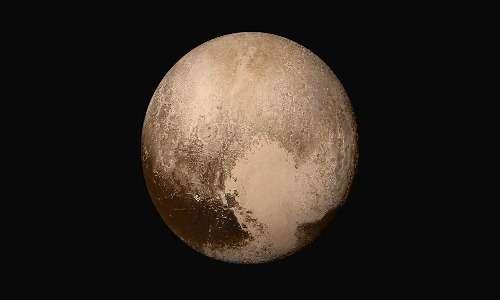 Un'immagine di Plutone scattata dalla sonda spaziale New Horizons