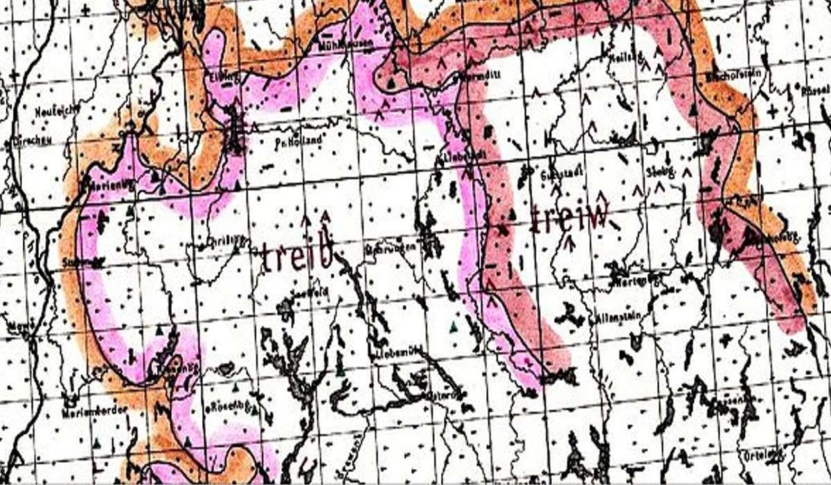 Linee che delimitano la zona di un territorio che condivide un tratto linguistico comune