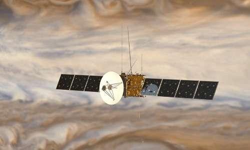 concept artistico di un design preliminare della sonda utilizzata per compiere la missione spaziale JUICE