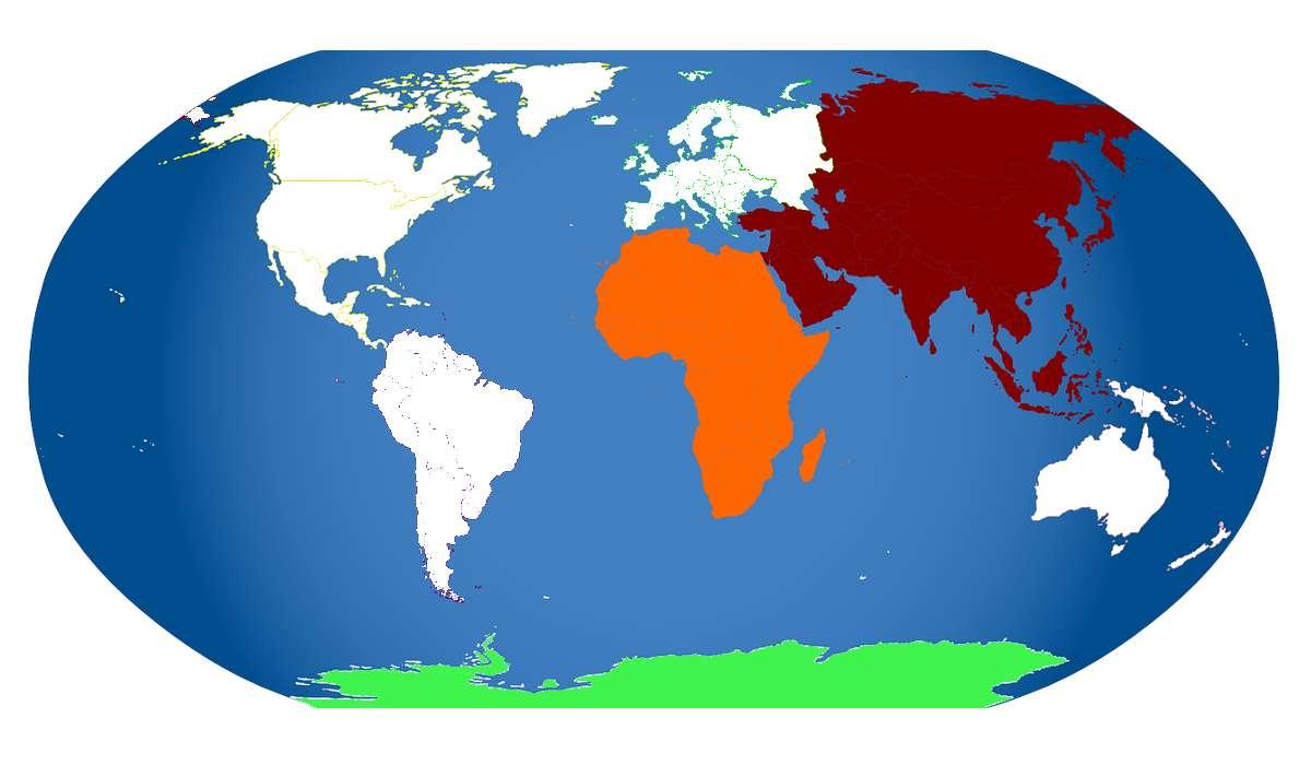 In quale di questi continenti ci sono sono i più grandi giacimenti di carbone?