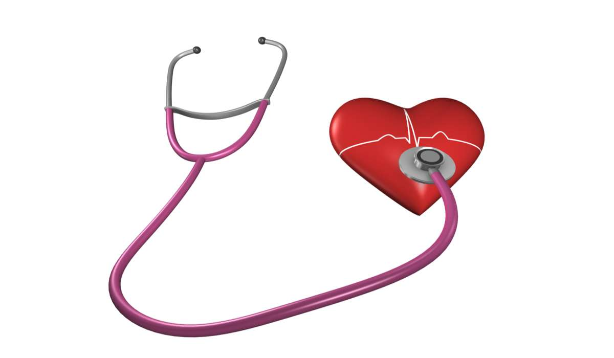 Uno stetofonendoscopio misura i livelli di colesterolo nel sangue che scorre nel cuore.