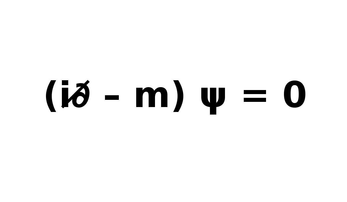 Cosa descrive l'equazione di Dirac?