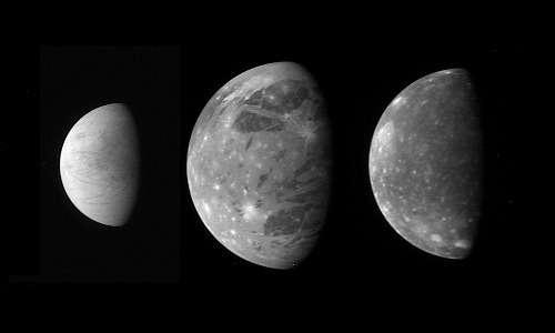 la missione spaziale JUICE ha come principale obiettivo lo studio di tre lune galileiane di Giove: Europa, Ganimede e Callisto