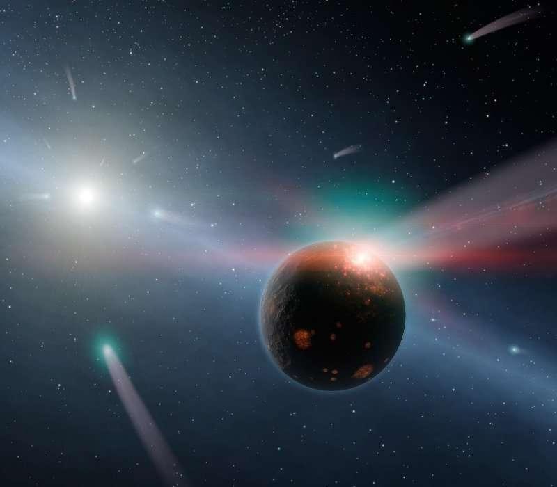 Dalla nube di Oort, ai confini del sistema solare, provengono le comete