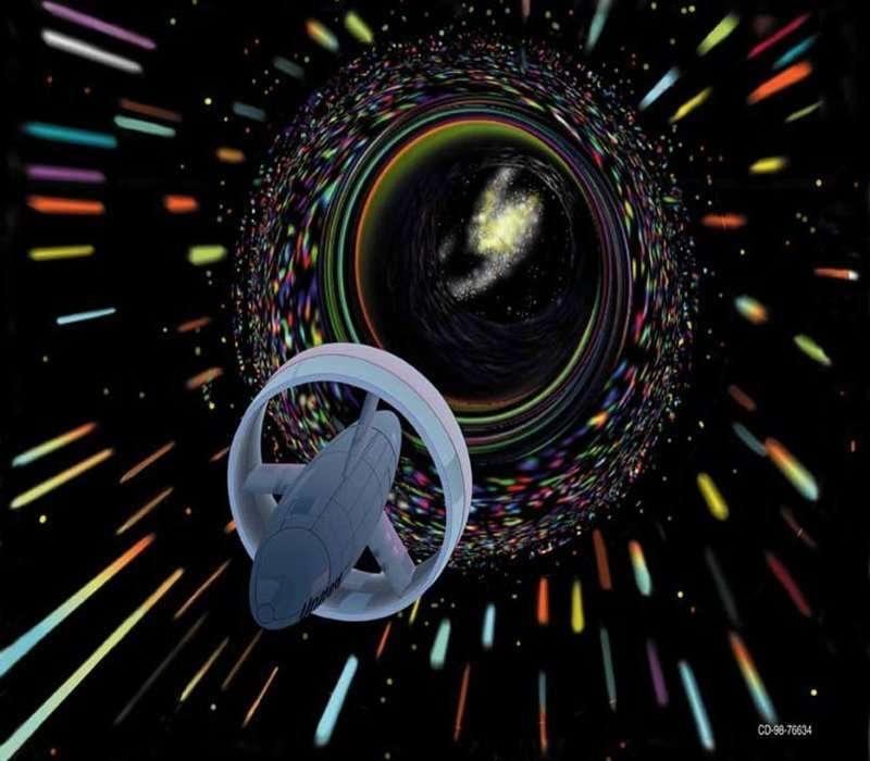 Motore a curvatura esterno a una navicella di Star Trek.