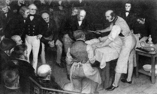 Robert Liston effettuava interventi senza abiti e strumenti sterilizzati, alla vista di un pubblico presente nella sala operatoria stessa