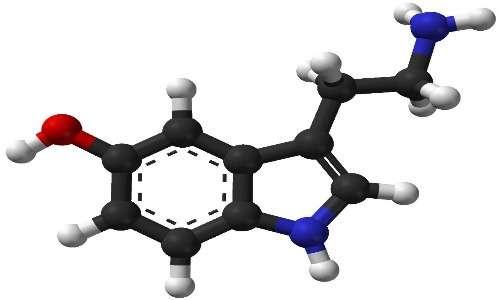 Struttura molecolare della serotonina