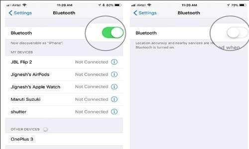 Nelle impostazioni di ogni iphone c'è un'area relativa al Bluetooth