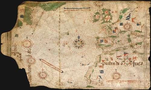 Nelle prime carte nautiche c'era sempre più di una rosa dei venti per facilitare la navigazione