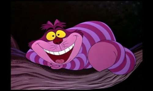 Immagine animata del gatto del Cheshire