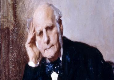 Ritratto d'epoca del filosofo inglese Francis Galton.