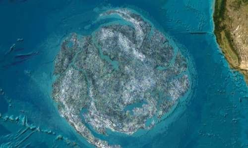 Isole di plastica nell'oceano Pacifico. L'isola di plastica nell'oceano Pacifico è la più grande per dimensione tale da essere paragonata al Canada.
