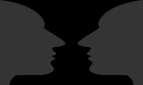 visi speculari, donano una percezione del conflitto cognitivo nei split-brain