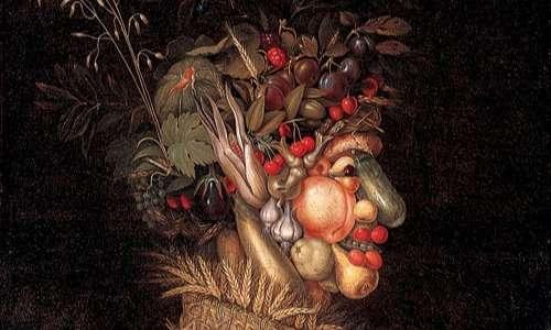La pareidolia ci permette di notare il profilo umano dietro al miscuglio di frutta, verdura e piante dell'opera di Giuseppe Arcimboldo.